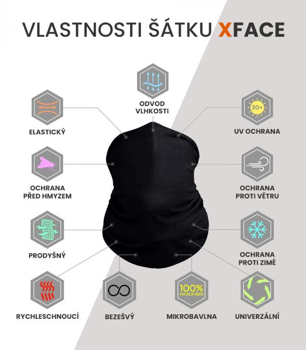 vlastnosti multifunkčního šátku xface ochrana před větrem
