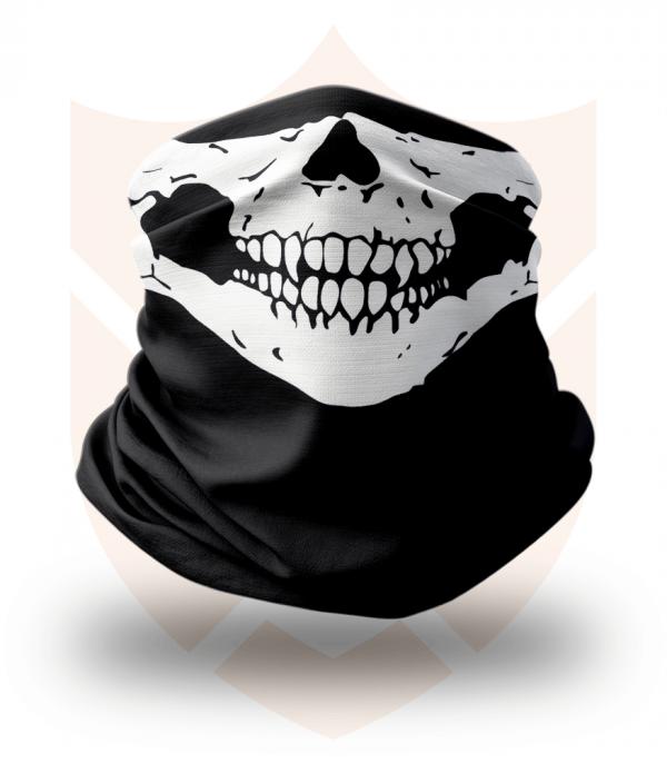Nákrčník 💀 Lebka Čelist ❤️ Multifunkční šátek