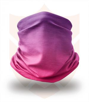 Nákrčník 🛡️ Fialová Červená Duha ❤️ Multifunkční šátek