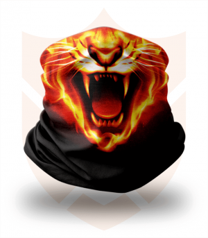 Nákrčník 🎞️ Ohnivý Tygr ❤️ Multifunkční šátek