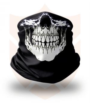 Nákrčník 💀 Lebka Real ❤️ Multifunkční šátek