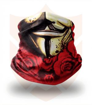 Nákrčník 🎞️ Anonymous | Rudé Růže ❤️ Multifunkční šátek