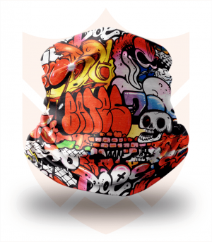 Nákrčník 🎨 Graffiti Skull ❤️ Multifunkční šátek