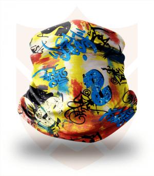 Nákrčník 🎨 Graffiti Tag ❤️ Multifunkční šátek