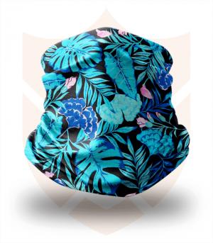 Nákrčník 💐 Modré Listy ❤️ Multifunkční šátek