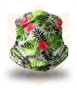 Nákrčník 🌿 Zelené Listy ❤️ Multifunkční šátek
