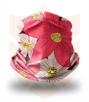 Nákrčník 🌸 Růžové Květy ❤️ Multifunkční šátek