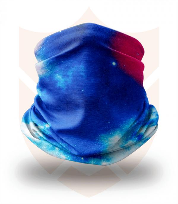 Nákrčník 🌌 Modrý Vesmír ❤️ Multifunkční šátek