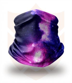 Nákrčník 🌌 Fialový Vesmír ❤️ Multifunkční šátek