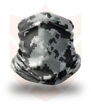 Nákrčník 🌲 Šedý Digital Maskáč | Camo ❤️ Multifunkční šátek