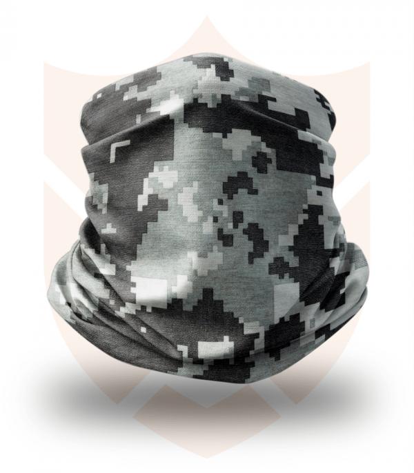 Nákrčník 🌲 Šedý Digital Maskáč   Camo ❤️ Multifunkční šátek