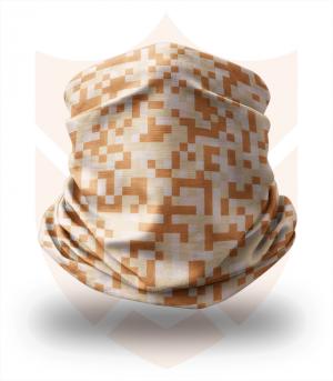 Nákrčník 🌲 Hnědý Digital Maskáč | Camo ❤️ Multifunkční šátek