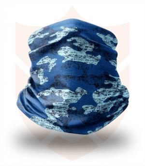 Nákrčník 🌲 Modrý Maskáč | Camo ❤️ Multifunkční šátek