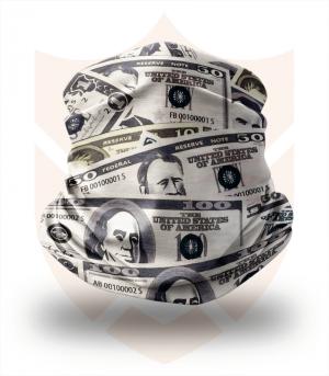 Nákrčník 💵 Dollar Money ❤️ Multifunkční šátek