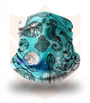 Nákrčník 🐬 Mořská Zvířata ❤️ Multifunkční šátek