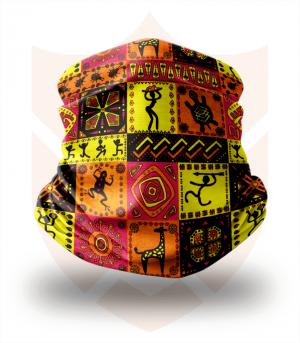 Nákrčník 🔥 Afrika Fresky ❤️ Multifunkční šátek