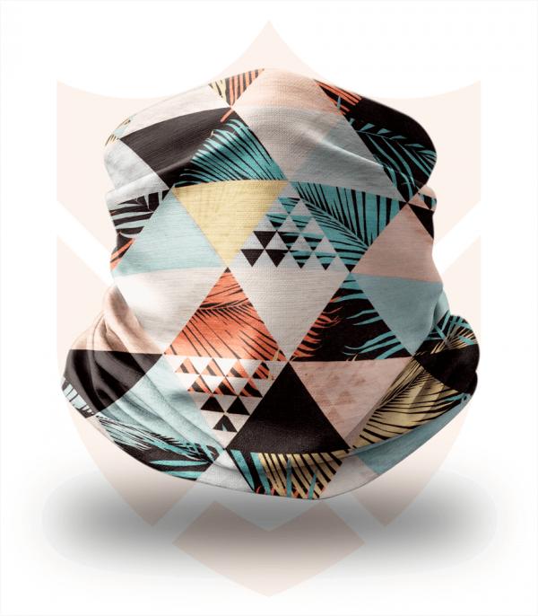 Nákrčník 🛡️ Retro Trojúhelníky ❤️ Multifunkční šátek