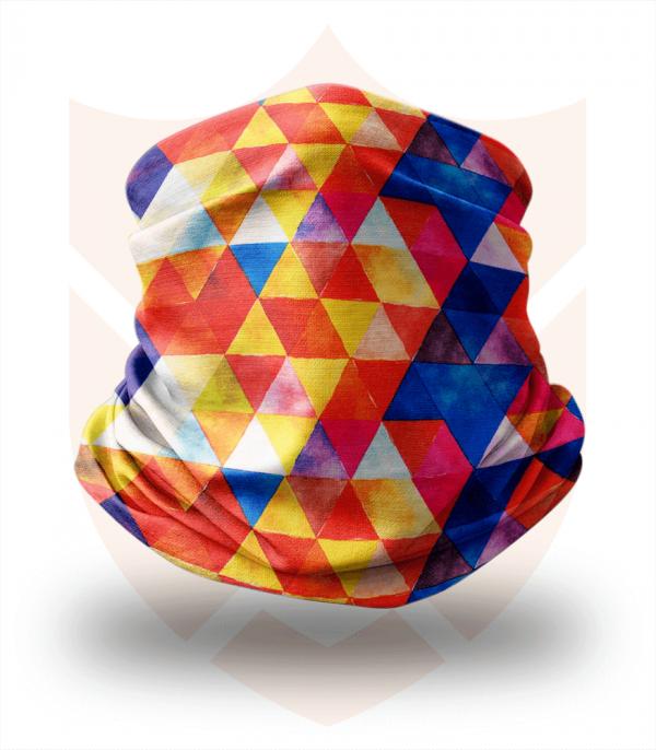 Nákrčník 🛡️ Malé Barevné Trojúhelníky ❤️ Multifunkční šátek