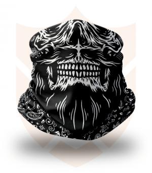 Nákrčník 💀 Lebka USA ❤️ Multifunkční šátek