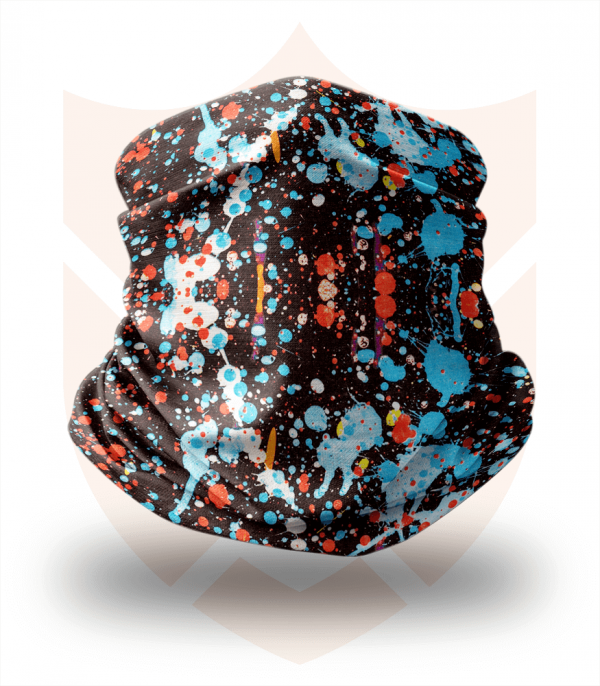 Nákrčník 🛡️ Stříkance Barvy ❤️ Multifunkční šátek