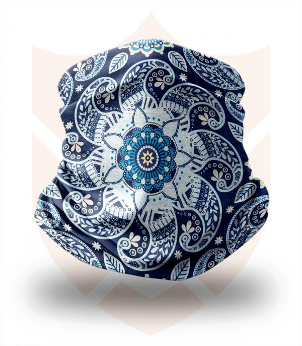 Nákrčník 🛡️ Modré Mandaly ❤️ Multifunkční šátek