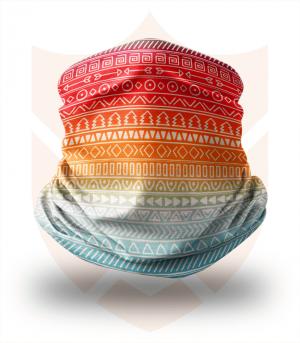 Nákrčník 🛡️ Barevné Symboly ❤️ Multifunkční šátek