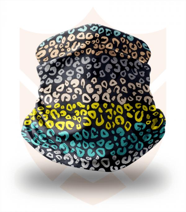Nákrčník 🛡️ Barevný Leopard ❤️ Multifunkční šátek