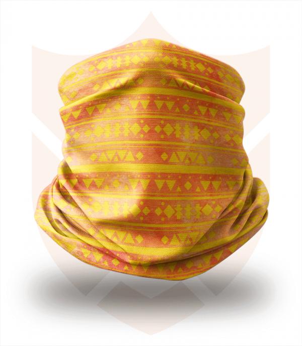Nákrčník 🛡️ Žlutá Mozaika ❤️ Multifunkční šátek
