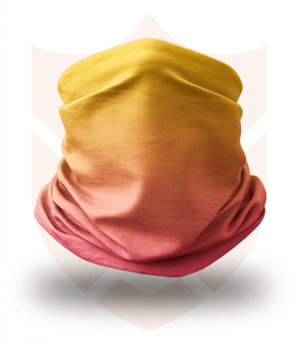 Nákrčník 🛡️ Žlutá Červená Duha ❤️ Multifunkční šátek