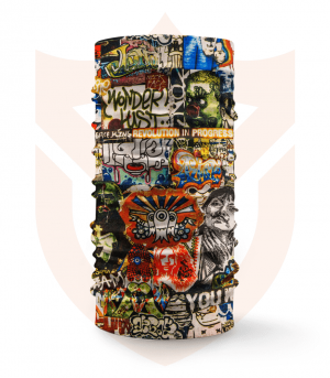 Nákrčník 🎨 Graffiti Street ❤️ Multifunkční šátek