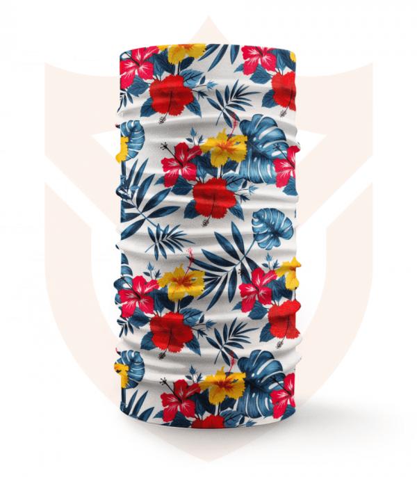 Nákrčník 🌹 Červené a Žluté Květy ❤️ Multifunkční šátek
