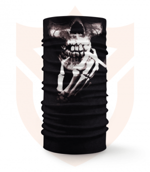 Nákrčník 💀 Lebka s Cigaretou ❤️ Multifunkční šátek