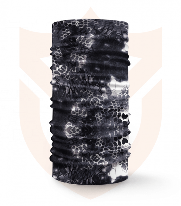 Nákrčník 🌲 Black and White ❤️ Multifunkční šátek