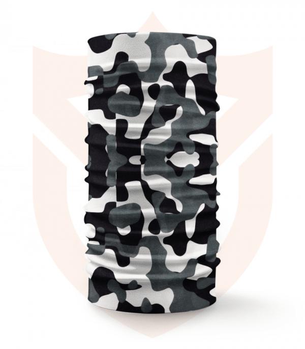 Nákrčník 🌲 Černobílý Maskáč | Camo ❤️ Multifunkční šátek