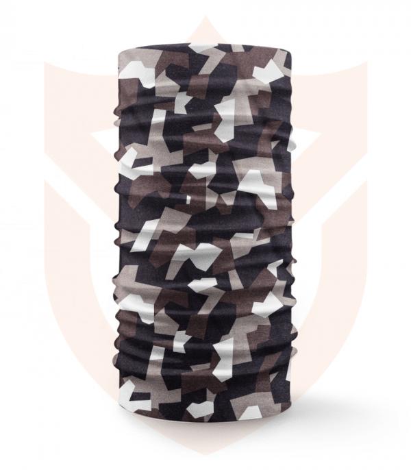 Nákrčník 🌲 Černohnědý Maskáč | Camo ❤️ Multifunkční šátek