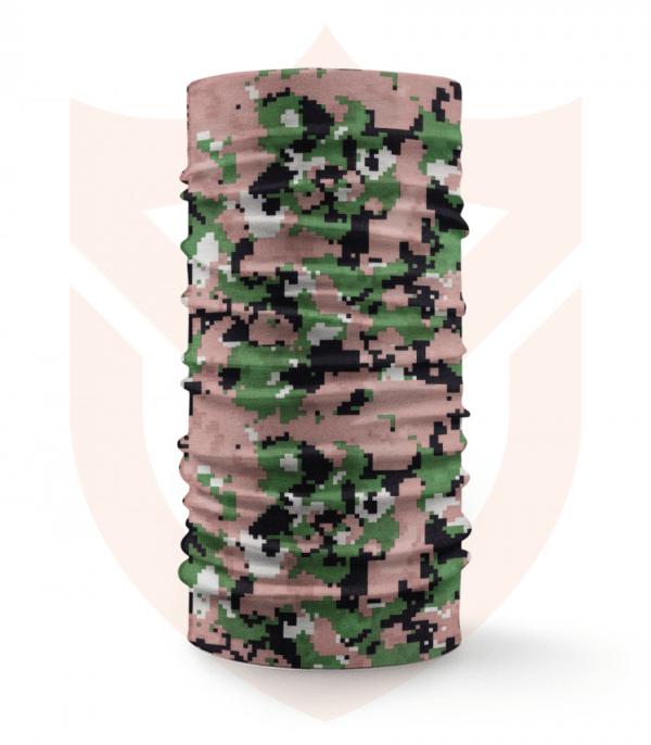Nákrčník 🌲 Zelený Hnědý Digital Maskáč | Camo ❤️ Multifunkční šátek