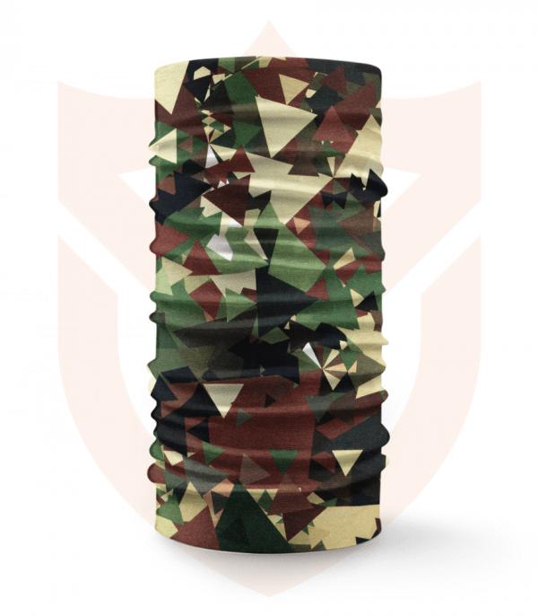 Nákrčník 🌲 Trojúhelníky Maskáč | Camo ❤️ Multifunkční šátek