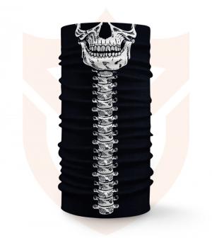 Nákrčník 💀 Lebka s Páteří ❤️ Multifunkční šátek