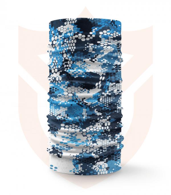 Nákrčník 🌲 Sportovní Modrý Maskáč | Camo ❤️ Multifunkční šátek