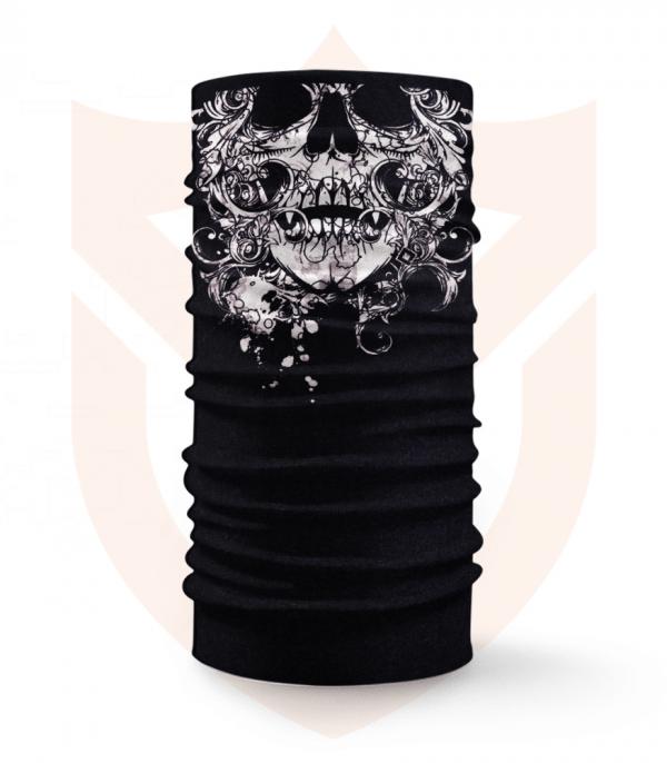 Nákrčník 💀 Lebka Tribal ❤️ Multifunkční šátek