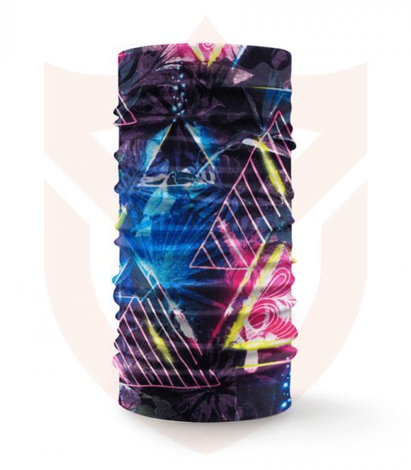 Nákrčník 🔺 Barevné Trojúhelníky ❤️ Multifunkční šátek