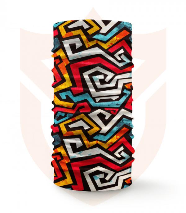 Nákrčník 🛡️ Barevné Pruhy ❤️ Multifunkční šátek