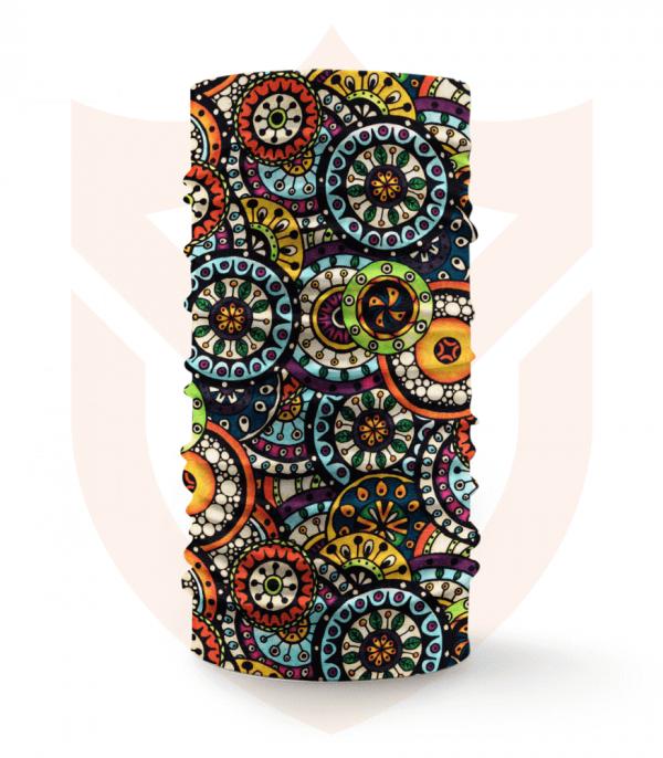 Nákrčník 🛡️ Barevné Mandaly ❤️ Multifunkční šátek