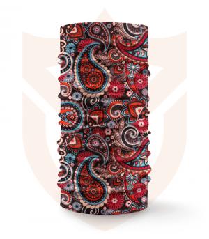 Nákrčník 🛡️ Červené Mandaly ❤️ Multifunkční šátek