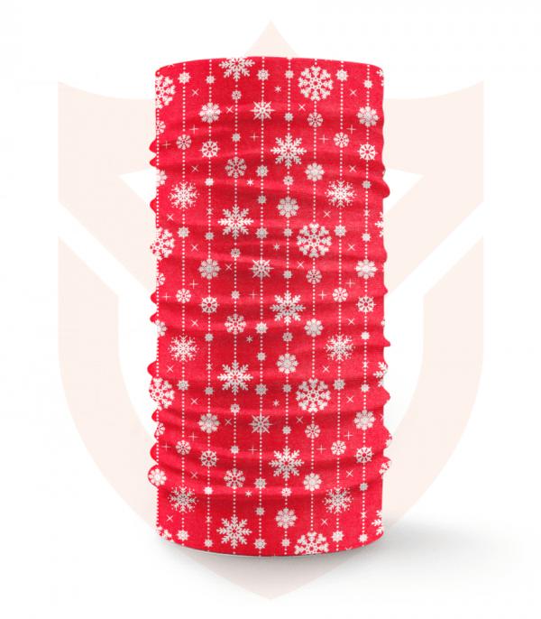 Nákrčník 🛡️ Sněhové Vločky | Vánoce ❤️ Multifunkční šátek