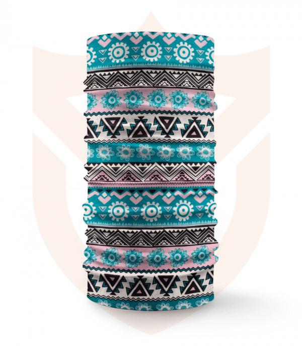 Nákrčník 🛡️ Modrá Mozaika ❤️ Multifunkční šátek