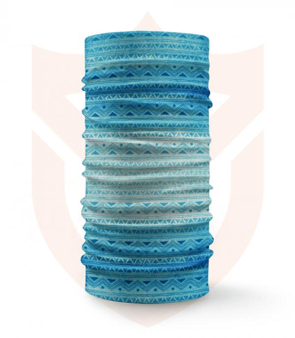 Nákrčník 🛡️ Modrá Mozaika Vzor ❤️ Multifunkční šátek